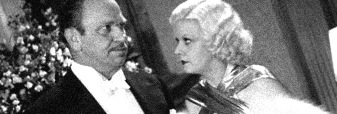 Wallace Beery and Jean Harlow star in DINNER AT EIGHT, directed by George Cukor for Metro-Goldwyn-Mayer.