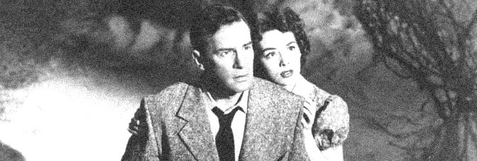 Richard Carlson and Barbara Rush star in IT CAME FROM OUTER SPACE, directed by Jack Arnold for Universal Pictures.