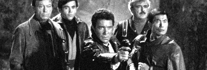 DeForest Kelley, Walter Koenig, William Shatner, James Doohan and George Takei star in STAR TREK III: THE SEARCH FOR SPOCK, directed by Leonard Nimoy for Paramount Pictures.