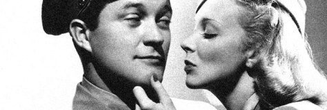 Dennis Morgan and Virginia Bruce star in FLIGHT ANGELS, directed by Lewis Seiler for Warner Bros.
