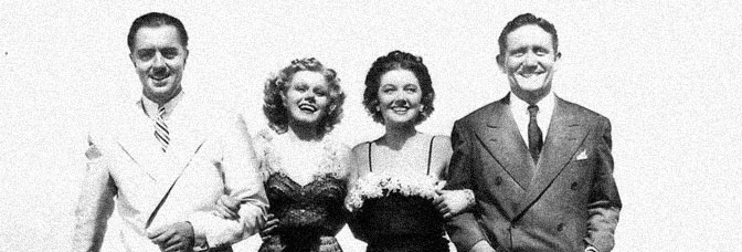 William Powell, Jean Harlow, Myrna Loy, and Spencer Tracy star in LIBELED LADY, directed by Jack Conway for Metro-Goldwyn-Mayer.