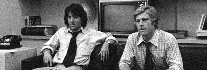 Dustin Hoffman and Robert Redford star in ALL THE PRESIDENT'S MEN, directed by Alan J. Pakula for Warner Bros.