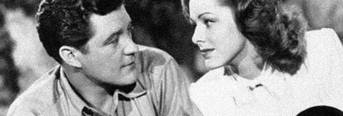 Dennis Morgan and Eleanor Parker star in THE VERY THOUGHT OF YOU, directed by Delmer Daves for Warner Bros.