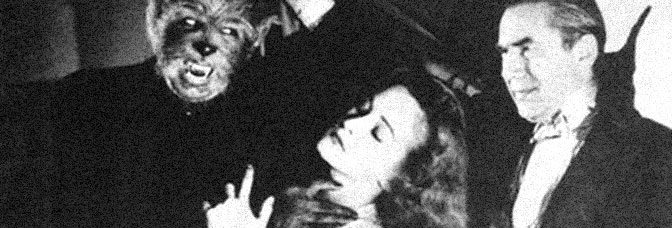 Matt Willis, Nina Foch, and Bela Lugosi star in THE RETURN OF THE VAMPIRE, directed by Lew Landers for Columbia Pictures.