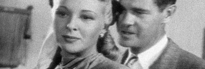 Evelyn Ankers and Paul Kelly star in SPOILERS OF THE NORTH, directed by Richard Sale for Republic Pictures.