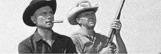 Yul Brynner and Steve McQueen star in THE MAGNIFICENT SEVEN, directed by John Sturges for United Artists.