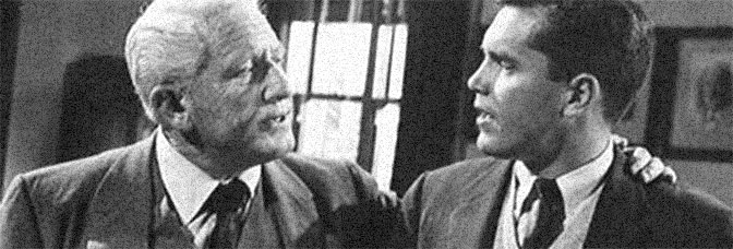 Spencer Tracy and Jeffrey Hunter star in THE LAST HURRAH, directed by John Ford for Columbia Pictures.