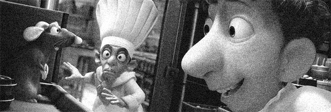 A scene from RATATOUILLE, directed by Brad Bird for Walt Disney Pictures.
