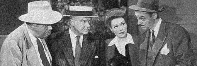A scene from CRIME BY NIGHT, directed by William Clemens for Warner Bros.