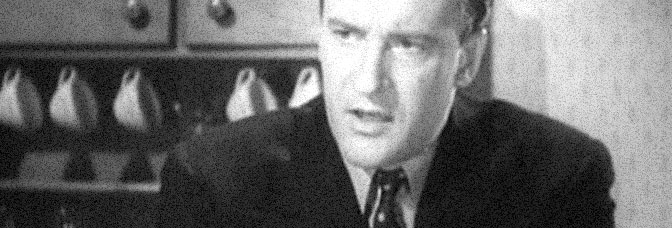 George Sanders stars in THE SAINT TAKES OVER, directed by Jack Hively for RKO Radio Pictures.