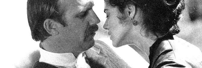 Kevin Costner and Joanna Going star in WYATT EARP, directed by Lawrence Kasdan for Warner Bros.