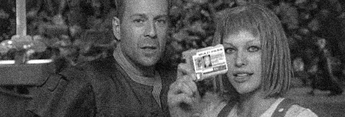 Bruce Willis and Milla Jovovich star in THE FIFTH ELEMENT, directed by Luc Besson for Columbia Pictures.