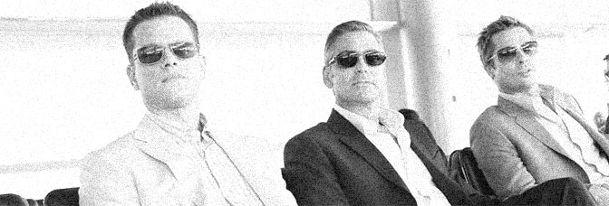 Matt Damon, George Clooney, and Brad Pitt star in OCEAN'S THIRTEEN, directed by Steven Soderbergh for Warner Bros.