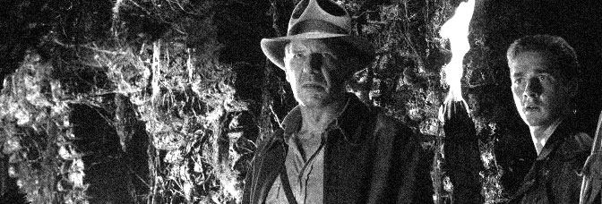 Harrison Ford and Shia LeBeouf have trouble finding the refrigerator in INDIANA JONES AND THE KINGDOM OF THE CRYSTAL SKULL, directed by Steven Spielberg for Paramount Pictures.
