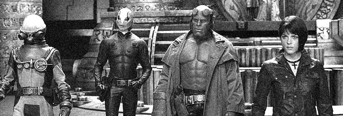Doug Jones, Ron Perlman, and Selma Blair star in HELLBOY II: THE GOLDEN ARMY, directed by Guillermo del Toro for Universal Pictures.