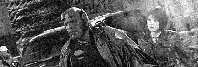 Ron Perlman and Selma Blair star in HELLBOY, directed by Guillermo del Toro for Columbia Pictures.
