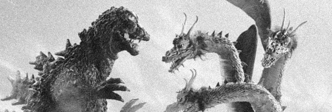 A scene from GHIDORAH, THE THREE-HEADED MONSTER, directed by Honda Ishirô for Toho Company Ltd.