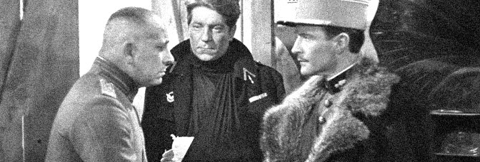 A scene from THE GRAND ILLUSION, directed by Jean Renoir for Réalisation d'art cinématographique.