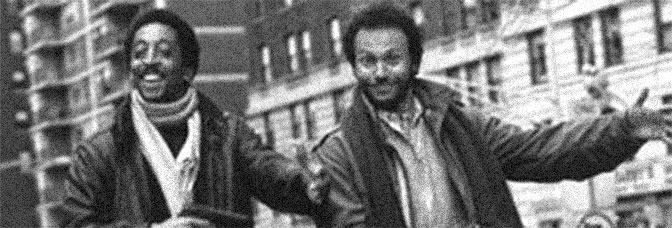 Gregory Hines and Billy Crystal star in RUNNING SCARED, directed by Peter Hyams for Metro-Goldwyn-Mayer.