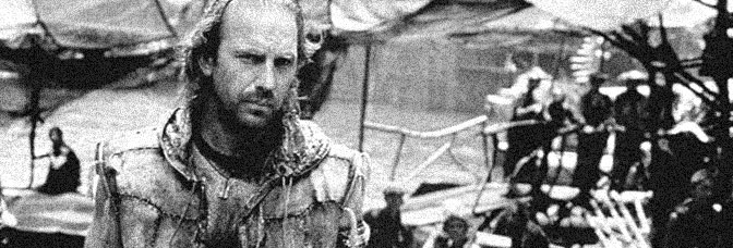 Kevin Costner stars in WATERWORLD, directed by Kevin Reynolds for Universal Pictures.