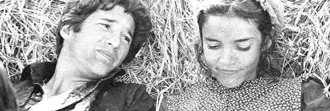 Richard Gere and Brooke Adams star in DAYS OF HEAVEN, directed by Terence Malick for Paramount Pictures.