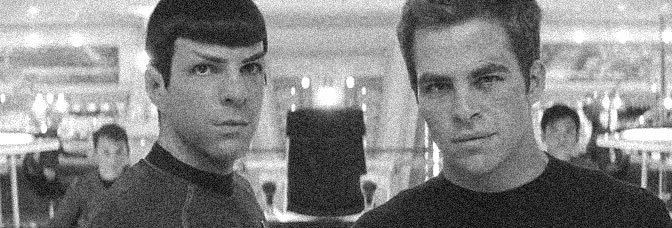 Zachary Quinto and Chris Pine star in STAR TREK , directed by J.J. Abrams for Paramount Pictures.