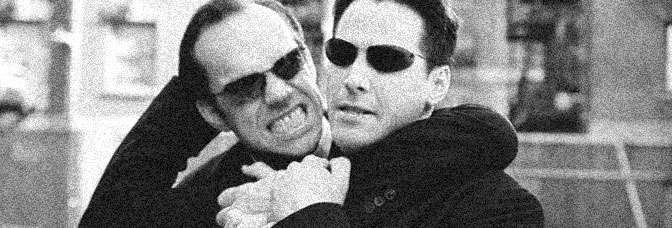 Hugo Weaving and Keanu Reeves star in THE MATRIX RELOADED, directed by the Wachowskis for Warner Bros.