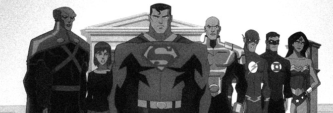 A scene from JUSTICE LEAGUE: CRISIS ON TWO EARTHS, directed by Sam Liu and Lauren Montgomery for Warner Premiere.