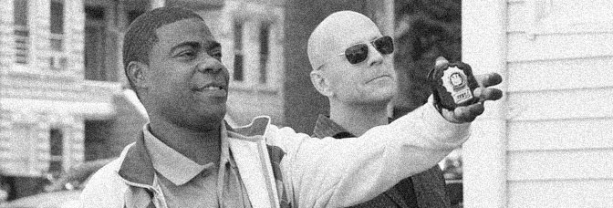 Tracy Morgan and Bruce Willis star in COP OUT, directed by Kevin Smith for Warner Bros.