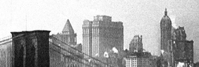 A shot from MANHATTA, directed by Paul Strand and Charles Sheeler.