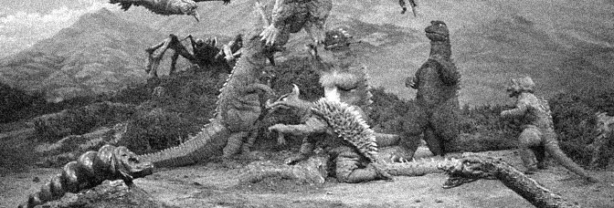 A scene from DESTROY ALL MONSTERS, directed by Honda Ishirô for Toho Company Ltd.