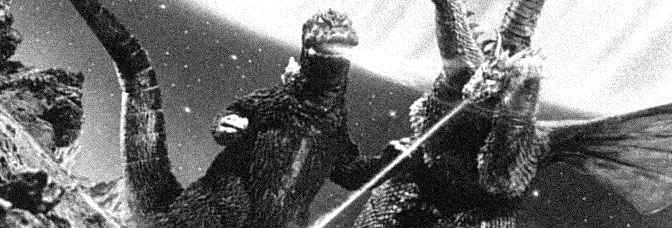 A scene from INVASION OF ASTRO-MONSTER, directed by Honda Ishirô for Toho Company Ltd.