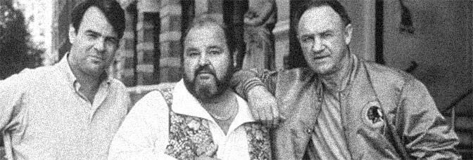Dan Aykroyd, Dom DeLuise, and Gene Hackman star in LOOSE CANNONS, directed by Bob Clark for Tri-Star Pictures.