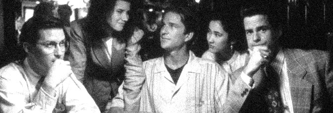Todd Field, Daphne Zuniga, Alice Carter, Matthew Modine, and John Scott Clough star in GROSS ANATOMY, directed by Thom E. Eberhardt for Touchstone Pictures.