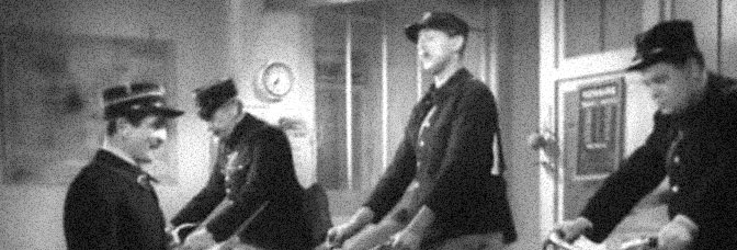 A scene from THE SCHOOL FOR POSTMEN, directed by Jacques Tati for Cady Films.