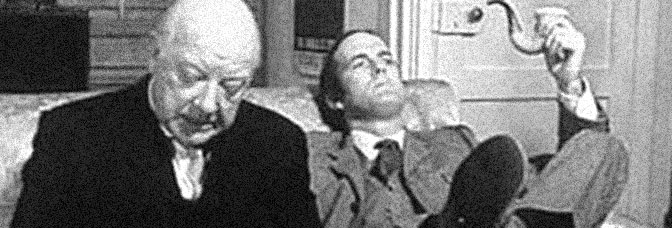 Arthur Lowe and John Cleese star in THE STRANGE CASE OF THE END OF THE WORLD AS WE KNOW IT, directed by Joseph McGrath for Independent Television.