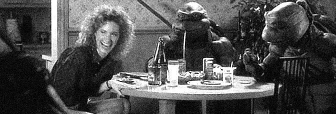 Judith Hoag stars in TEENAGE MUTANT NINJA TURTLES, directed by Steven Barron for New Line Cinema.