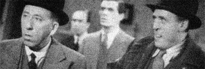 Gordon Harker and Alastair Sim star in INSPECTOR HORNLEIGH, directed by Eugene Forde for 20th Century Fox.