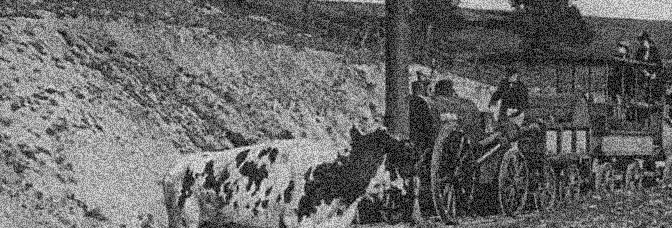 A scene from THE IRON MULE, directed by Roscoe 'Fatty' Arbuckle and Grover Jones for Educational Film Exchanges.