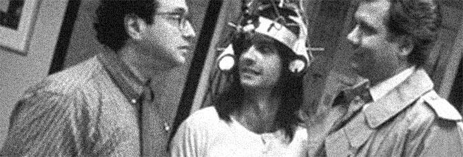 Stuart Pankin, Bronson Pinchot, and John Larroquette star in SECOND SIGHT, directed by Joel Zwick for Warner Bros.