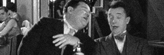 Oliver Hardy and Stan Laurel enjoy THE NIGHTLIFE, directed by James Parrott for Metro-Goldwyn-Mayer.