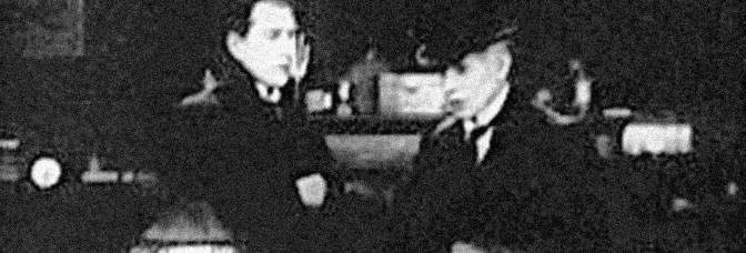 A scene from THE DYING DETECTIVE, directed by Maurice Elvey for Stoll Picture Productions.