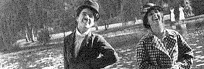 A scene from RECREATION, directed by Charles Chaplin for Mutual Film.