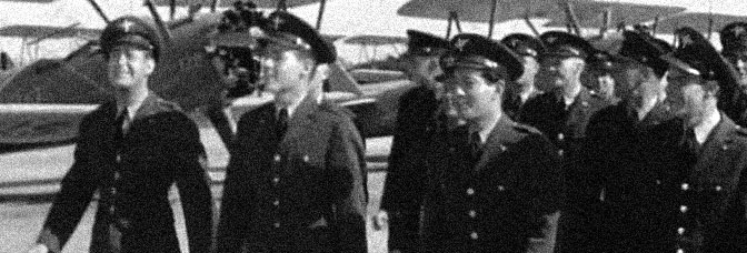 A scene from MEN OF THE SKY, directed by B. Reeves Eason for Warner Bros.