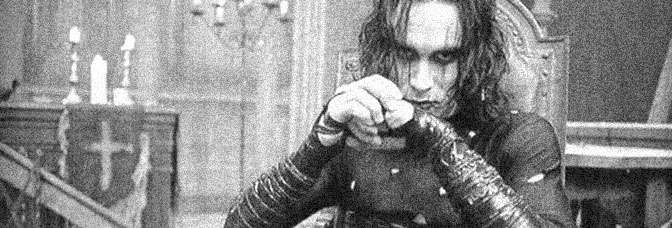 Brandon Lee is Eric Draven in THE CROW, directed by Alex Proyas for Dimension Films.