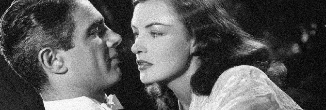 Charles Korvin and Ella Raines star in ENTER ARSENE LUPIN, directed by Ford Beebe for Universal Pictures.