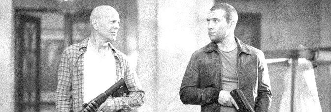 Bruce Willis and Jai Courtney star in A GOOD DAY TO DIE HARD, directed by John Moore for 20th Century Fox.