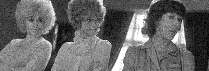 Dolly Parton, Jane Fonda, and Lily Tomlin star NINE TO FIVE, directed by Colin Higgins for 20th Century Fox.