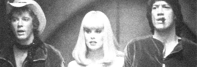 J.D. Hinton , Dorothy Stratten, and Stephen Macht star in GALAXINA, directed by William Sachs for Crown International Pictures.