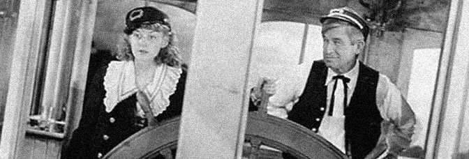 Anne Shirley and Will Rogers star in STEAMBOUT ROUND THE BEND, directed by John Ford for 20th Century Fox.
